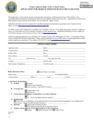 Medium-Term Insurance or Guarantee Application - Export-Import ...