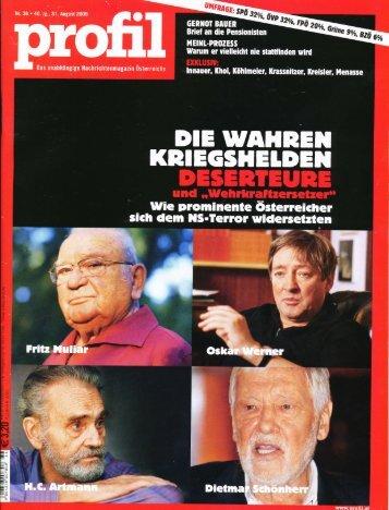 profil - Christa Zöchling - 31. 8. 2009 - Gerechtigkeit für die Opfer der ...