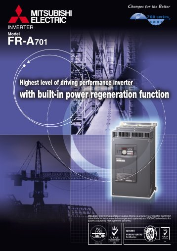 FR-A701 catalog - Mitsubishi Electric Australia