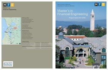 John O - Master of Financial Engineering Program - University of ...
