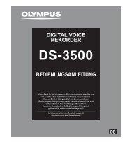 BEDIENUNGSANLEITUNG DIGITAL VOICE REKORDER