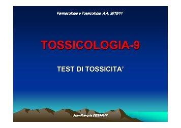 Test di tossicità - Università degli Studi di Bari