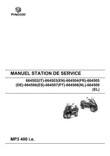 MANUEL STATION DE SERVICE MP3 400 ie