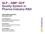GLP – GMP- GCP Quality System in Pharma Industry R&D ...
