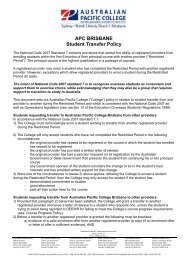 Student Transfer Request policy - Australian Pacific College