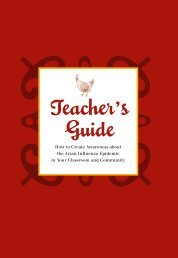 Teacher's Guide - Avian and Pandemic Influenza Resource Link