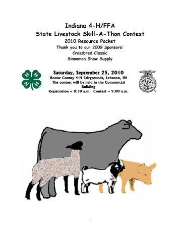 livestock feed identification - Indiana 4-H