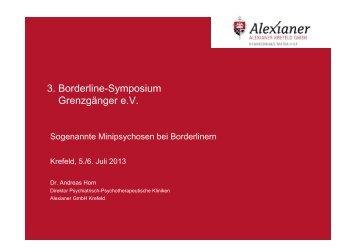 Minipsychosen bei BPS - BLP-Symposien