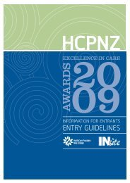 Excellence in Care Award 2009 entry form and guidelines