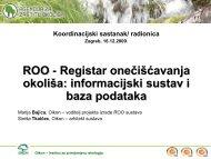 ROO - Registar onečišćavanja okoliša: informacijski sustav i baza ...