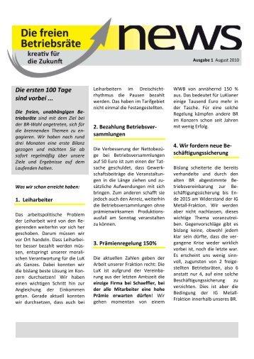 Flyer01 _2 - Schaeffler-Nachrichten der IG Metall: Startseite