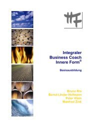 Integraler Business Coach Innere Form - Institut Innere Form
