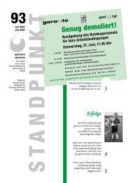 Standpunkt 93, Juni 2007/pdf - vpod Bern