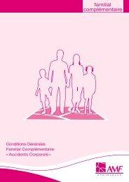 Conditions générales Familial Complémentaire - AMF Assurances