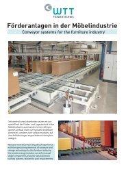 WTT Fördertechnik GmbH - Produkte für die Möbelindustrie