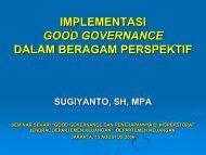 implementasi good governance dalam beragam perspektif