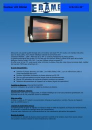 Moniteur LCD WSXGA LCD-514-23'' - Erame fabricant d'écrans