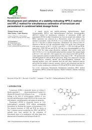 Development and validation of a stability-indicating HPTLC method ...