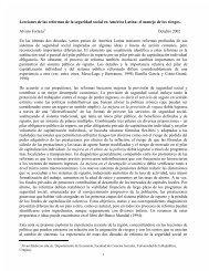 Lecciones de las reformas de la seguridad social en América Latina ...