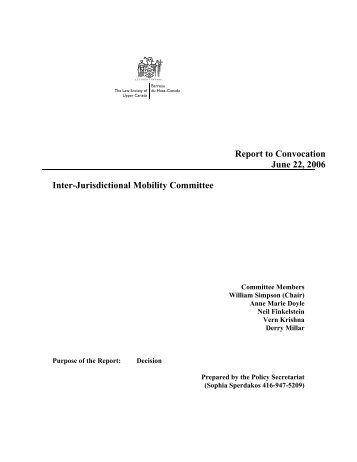 Inter-Jurisdictional Mobility Committee - The Law Society of Upper ...
