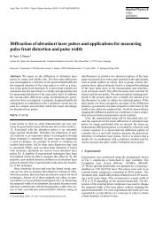 Diffraction of ultrashort laser pulses and applications for measuring ...