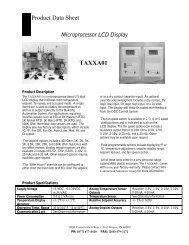 TAXX A Series Sensor Product Data Sheet - WaterFurnace