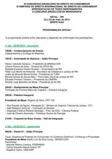 xi congresso brasileiro de direito do consumidor iii simpósio ... - AMB