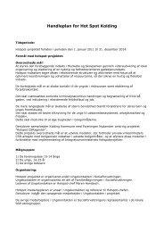 Handleplan for Hot Spot Kolding - Ny i Danmark