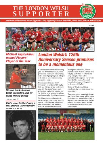 Edition 8 (May 2009) - London Welsh Supporters Club