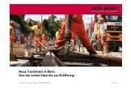 Neue Tramlinien in Bern: Von der ersten Idee bis zur Eröffnung - Infra