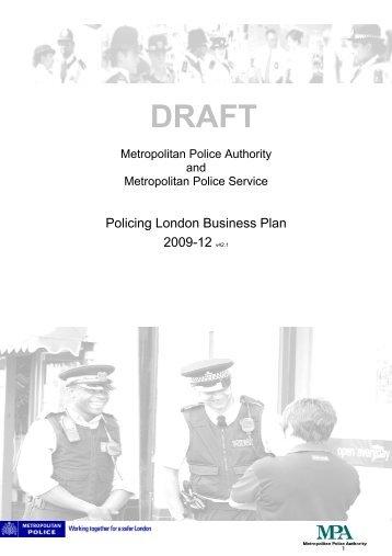 Draft - Policing London Business Plan