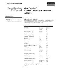 Dow Corning SE4486 Thermally Conductive Adhesive
