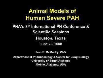 Animal Models of Human Severe PAH - PHA Online University