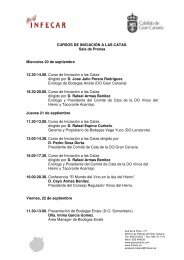 CURSOS DE INICIACIÓN A LAS CATAS. Sala de Prensa Miercoles ...
