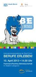 Berufe erleBen! - Stiftung Berufslehrverbund Zürich