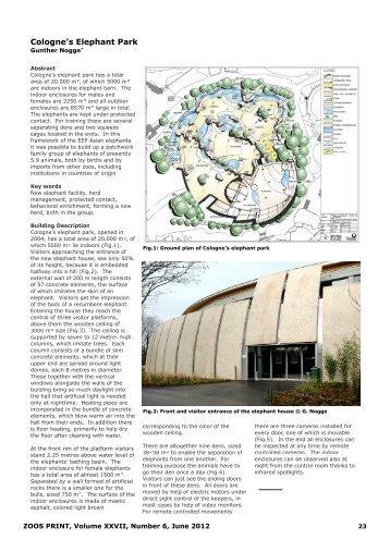 Cologne's elephant park - zoos' print