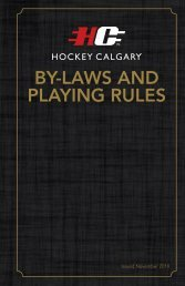 BY-LAWS AND PLAYING RULES - Hockey Calgary
