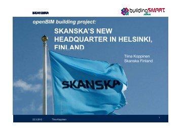 skanska's new headquarter in helsinki, finland ... - buildingSMART