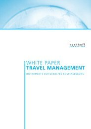 WHITE PAPER TRAVEL MANAGEMENT - Kerkhoff Consulting
