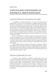 vastuullinen johtaminen ja johtajuus liiketoiminnassa - Edu.fi