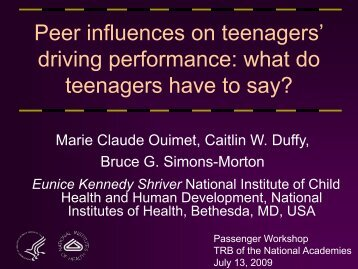 Driving Performance: What Do Teenagers Have to Say?