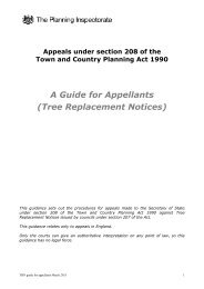 A Guide for Appellants (Tree Replacement Notices) - Planning Portal