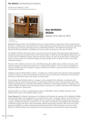 Roy McMakin Middle - The Aldrich Contemporary Art Museum