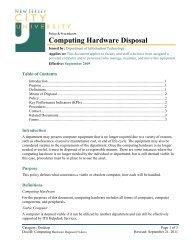 Computing Hardware Disposal Policy - New Jersey City University