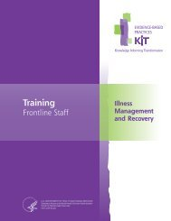Training Frontline Staff – Illness Management and Recovery