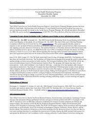 Forest Health Monitoring Program, December Monthly Update ...