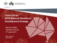 Future focus: 2013 National Workforce Development ... - Service Skills