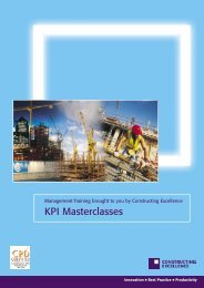 KPI Masterclasses - Constructing Excellence