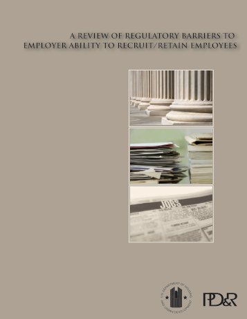 A Review of Regulatory Barriers to Employer ... - Michael Carliner