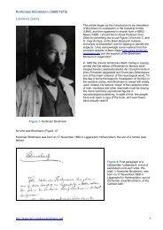 Korbinian Brodmann (1868-1918) Laurence Garey